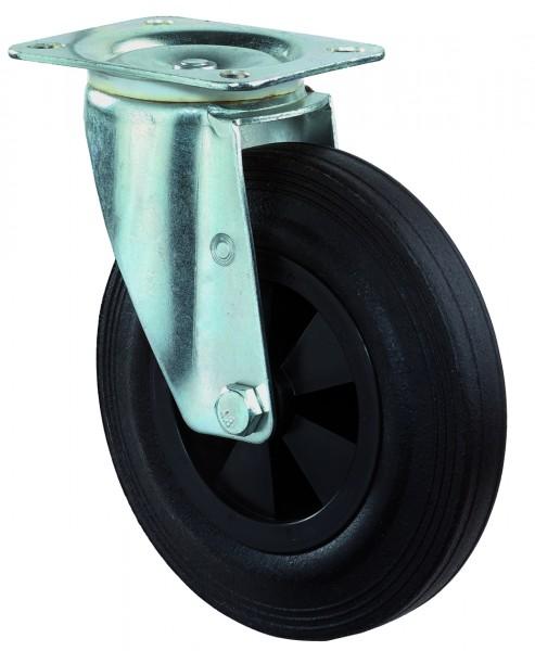 Transportrolle L400.B40 Lenkrolle Gummi schwarz Kunststofffelge