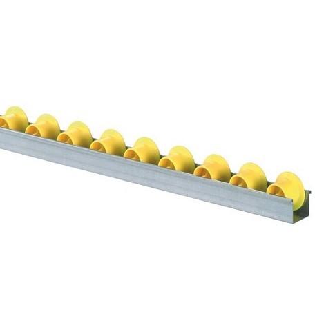 Röllchenleisten U-Leisten mit Spurkranzröllchen Durchmesser 28/41 mm
