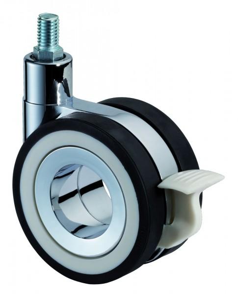 Design-Doppelrolle Gewindestift Bremse F371 schwarze Reifen