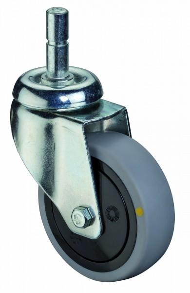 Apparaterolle Lenkrolle Gummirad antistatisch Kugellager Einschlagstift BS Rollen A103.A89