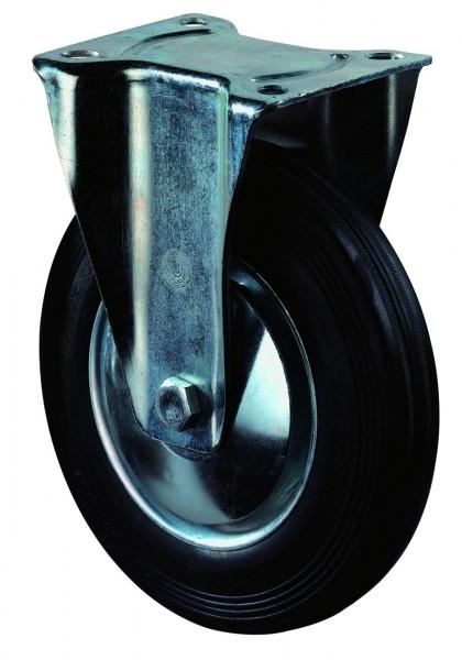Transportrolle LS410.B55.126 Bockrolle Bremse Gummi schwarz