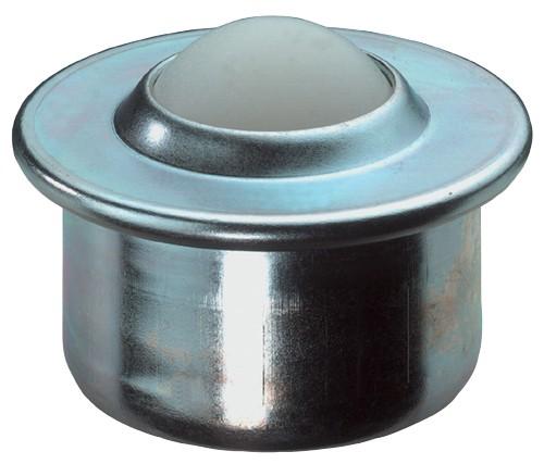 Kugelrolle E36 Gehäuse Stahl verzinkt Kugel Kunststoff BS Rollen