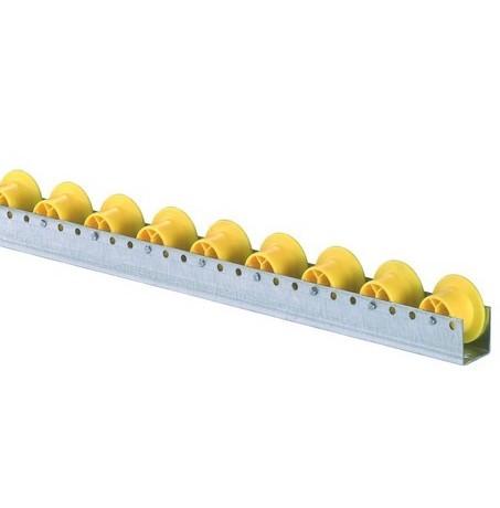 Röllchenleisten U-Leisten mit Spurkranzröllchen Durchmesser 30/44 mm