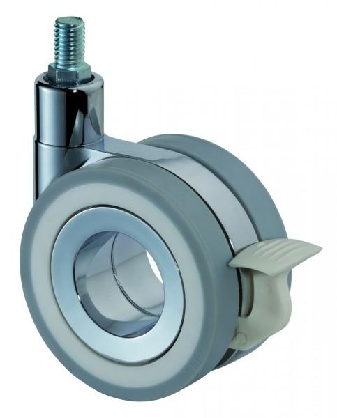 Design-Doppelrolle Gewindestift Bremse F373 graue Reifen