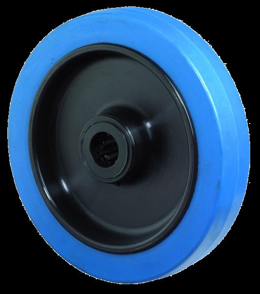 B61 Elastikgummirad Blue Wheel Kunststofffelge Rollenlager