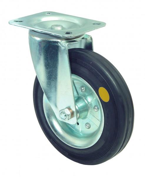 Transportrolle LS400.B58.125 Gummi schwarz antistatisch