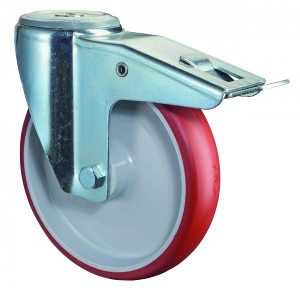 Transportrolle Rollenlager Lenkrolle Feststeller Bremse L121.B31 Rückenloch