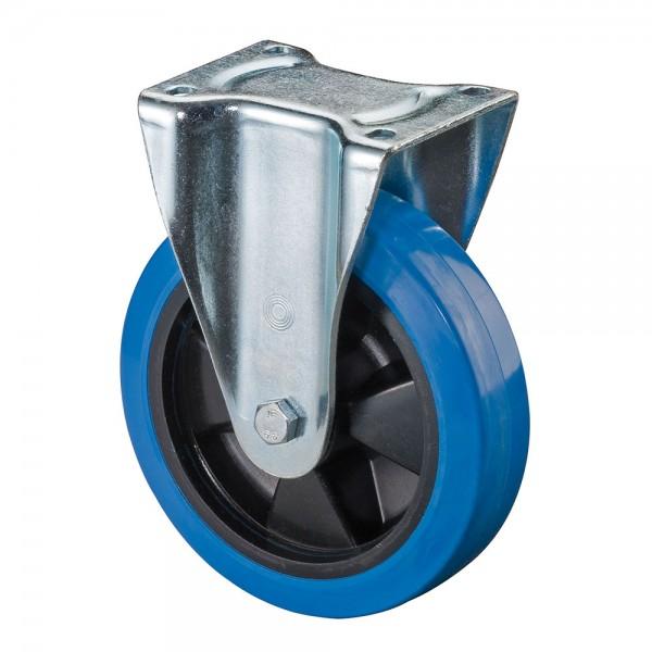 Schwerlastrolle Blue Wheel Elastikgummirad L610.B61 Bockrolle