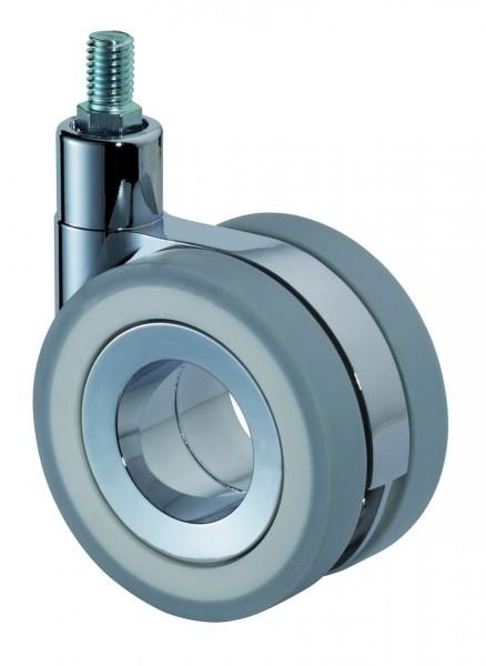 Design-Doppelrolle Gewindestift F372 graue Reifen