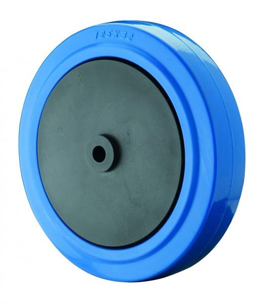 B62 Blaues Elastikgummirad Blue Wheel Kunststofffelge Kugellager