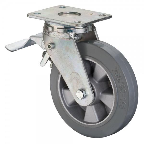 Schwerlastrolle Lenkrolle mit Feststeller Bremse RR120.B83