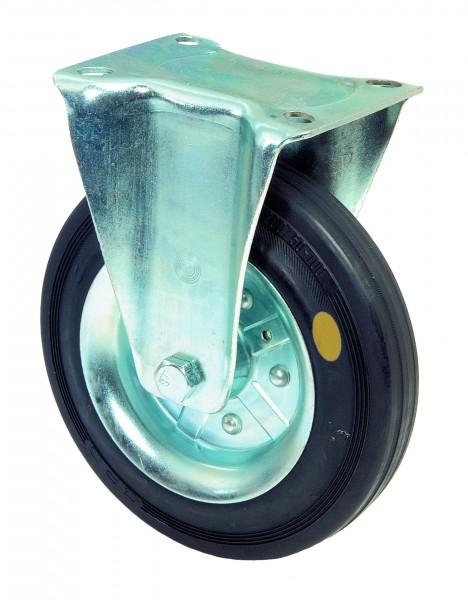 Transportrolle L410.B58 Bockrolle Gummi schwarz antistatisch Bremse